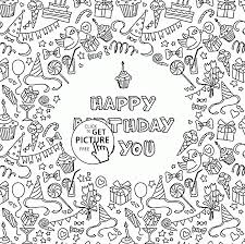 impressive coloring pages for birthday cards free printable happy