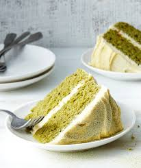 matcha cake with vanilla buttercream recipe real simple