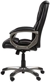 black leather desk chair amazon com amazonbasics high back executive chair black