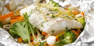poisson facile à cuisiner papillote de poisson au brocolis facile recette sur cuisine actuelle