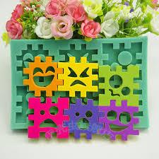 aliexpress com buy 1pcs cartoon smiley bricks kids fondant