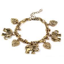 love hearts charm bracelet images Trendy antique gold silver elephant love heart charm bracelet jpg