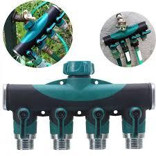 Faucet Splitter 3 4 Inch Garden Hose 4 Way Splitter Water Pipe Faucet Shut Off