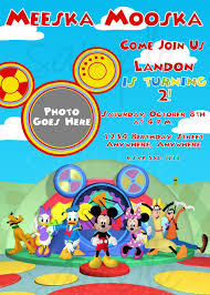 birthday invites charming mickey mouse clubhouse birthday