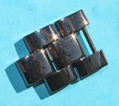 ceramic link bracelet images Genuine factory chanel ceramic 17mm glossy black watch links band jpg