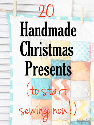 Homemade Christmas Presents by 20 Handmade Christmas Gifts To Sew Now