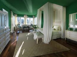 Green Wall Paint Bedroom Green Wall Paint Master Bedroom With Romantic Canopy Bed