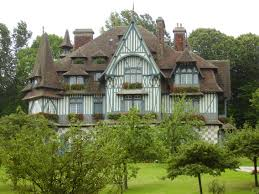 a typical villa of normandy in the seaside town of deauville