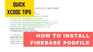 Google Pod by How To Install Firebase Cocoa Pods Youtube