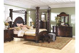 North Shore King Canopy Bed Ashley Furniture HomeStore - Ashley furniture bedroom set marble top