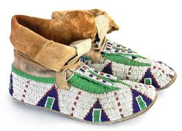 sioux beaded winter moccasins c678