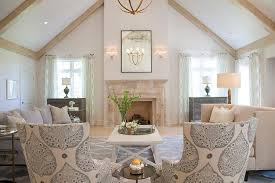 Whitewash Coffee Table Whitewashed Trestle Coffee Table Transitional Living Room