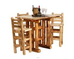 Log Dining Room Sets by Pine Log Bedroom Furniture