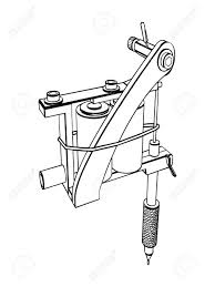 tattoo gun sketch silhouette tattoo machine stock photo picture and royalty free