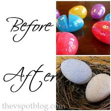 faux easter eggs recycle boring plastic eggs and make faux robin eggs for your