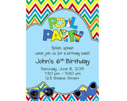 pool party invitations swimming pool birthday party