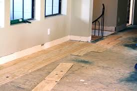Hardwood Plank Flooring Diy Wide Plank Floors Made From Plywood Little Green Notebook