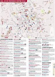 Provence Map Aix En Provence City Center Map