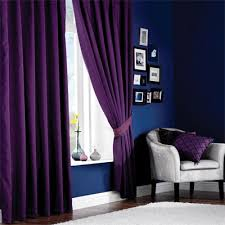 Thick Purple Curtains Purple Curtains And Blue Walls Probably Would Never Do This But