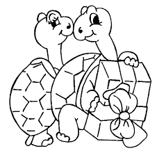 turtle coloring animals town free turtle color sheet