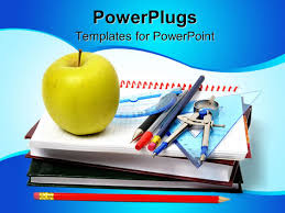 powerpoint template theme with notebooks math tools