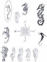 celtic seahorse designs tattoos