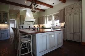 Glazed White Kitchen Cabinets by Old World Kitchen With Glazed Cabinets And Granite Backsplash