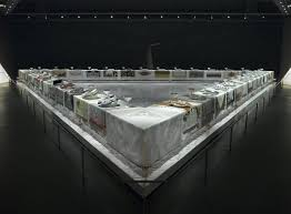 judy chicago dinner table brooklyn museum the dinner party by judy chicago