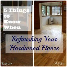 5 things to when refinishing hardwood floors