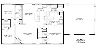 basic home floor plans simple open ranch floor plans style villa house