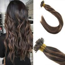 keratin tip extensions keratin u tip hair extensions brown highlight remy human