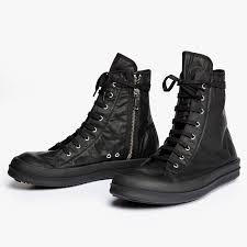 low top motorcycle boots james drkshdw hi top sneakers mens in black for men lyst