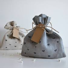 cloth gift bags heart pattern fabric gift bag by linen lisle