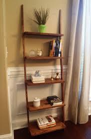 Ladder Shelving Unit Leaning Ladder Bookcase White Roselawnlutheran