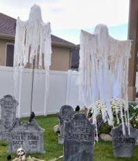 diy floating ghost simple for grave yard crafts