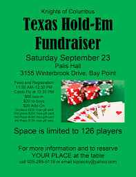 gift card fundraiser hold em fundraiser sponsored by the k of c our