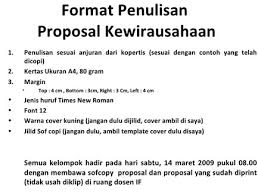 format penulisan makalah sederhana contoh proposal kewirausahaan yang baik dan benar teori pendidikan