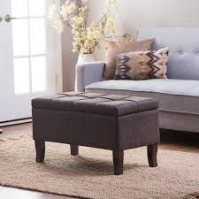 Leather Ottoman Storage Belham Living Sullivan Storage Bench Ottoman In Dark Gray Hayneedle