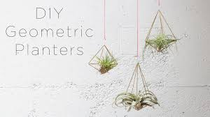 hanging geometric planters for air plants youtube
