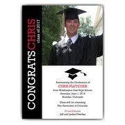 graduation photo announcements graduation announcements paper style