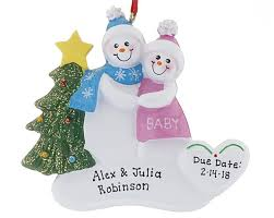 expectant parents ornaments trees 2017