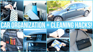 car organization and cleaning hacks youtube