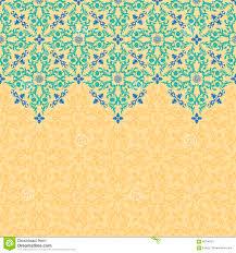 vector seamless border pattern ornament for design stock