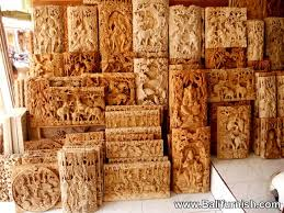 story boards carved wood wall panel decoration ornament bali