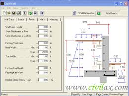 Free Retaining Wall Design Software Design A Retaining Wall Fine - Concrete wall design example