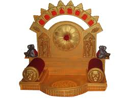 Decoration Of Temple In Home Ganapati Aasan Made From Polysterene Popularly Called Ther