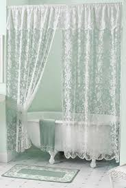 Fancy Shower Curtains Awesome Double Swag Shower Curtain Pictures Interior Design