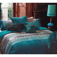 Peacock Feather Comforter Set Kas Australia Double Bed Zephir Quilt Cover Set Teal Main