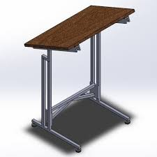 Cad Drafting Table Drafting Table 3d Cad Model Library Grabcad