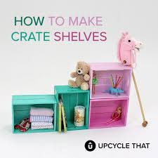 Upcycle That - colourful crate shelves upcycle that
